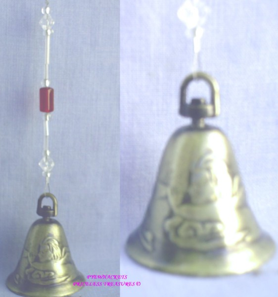 Angel Bell With Red & Clear Beads